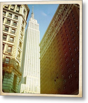Empire State Building Metal Print by Ben Peterson