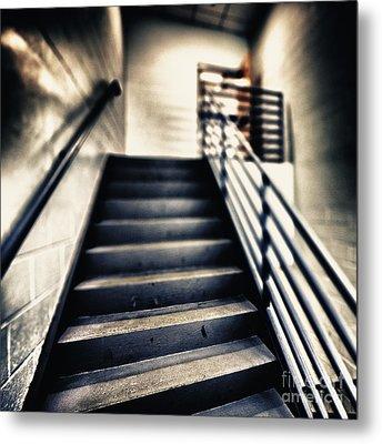 Empty Stairwell Metal Print by Skip Nall