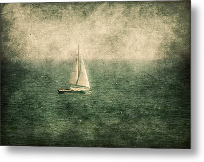Empty Yacht  Metal Print by Svetlana Sewell