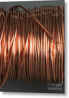 Enamel Coated Copper Wire Metal Print by Photo Researchers