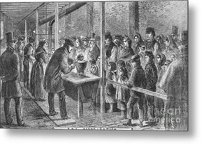 England: Soup Kitchen, 1862 Metal Print by Granger