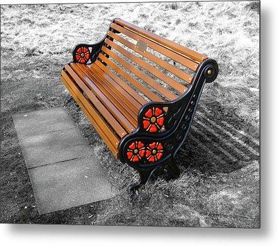 English Bench Metal Print by Roberto Alamino