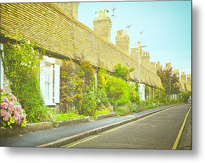 English Cottages Metal Print by Tom Gowanlock