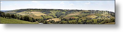 English Countryside Panorama Metal Print by Jane Rix