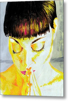 Enlightened Woman Metal Print by Jose Miguel Barrionuevo