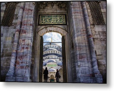Enter Metal Print by Joan Carroll