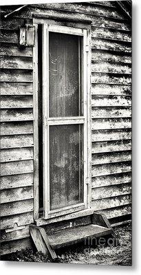 Enter Through The Back Door Metal Print by John Rizzuto