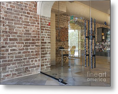 Entrance To A Traditional Music Center Metal Print by Jaak Nilson