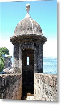 Entrance To Sentry Tower Castillo San Felipe Del Morro Fortress San Juan Puerto Rico Metal Print by Shawn O'Brien