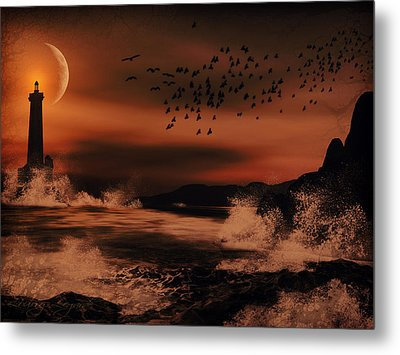 Episode In The Night  Metal Print by Lourry Legarde