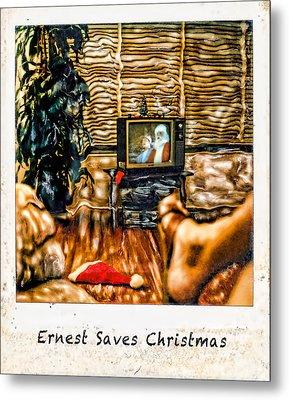 Ernest Saves Christmas Metal Print by Lou  Novick