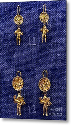 Erotes Earrings Metal Print by Andonis Katanos