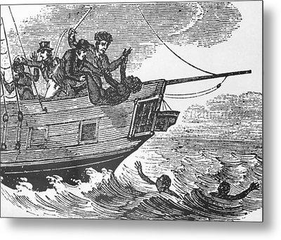 European Sailors Throwing African Metal Print by Everett