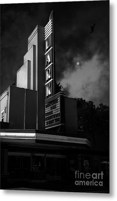 Evening At The Lark - Larkspur California - 5d18484 - Black And White Metal Print by Wingsdomain Art and Photography