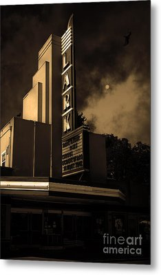 Evening At The Lark - Larkspur California - 5d18484 - Sepia Metal Print by Wingsdomain Art and Photography