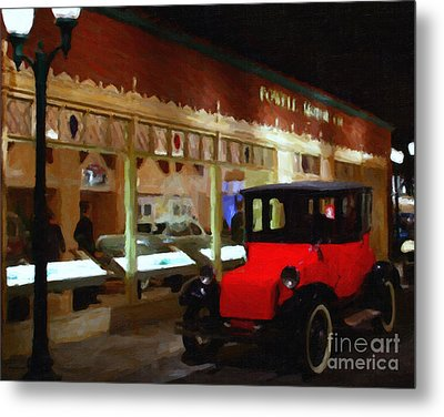 Evening At The Vintage American Car Dealership - 7d17460 Metal Print by Wingsdomain Art and Photography