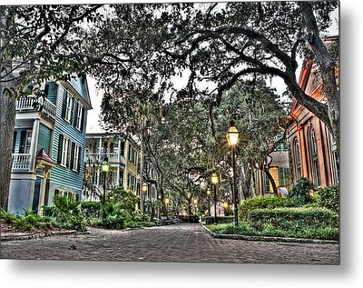 Evening Campus Stroll Metal Print by Andrew Crispi