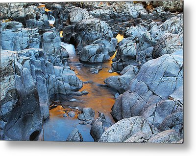 Evening Light On The Black River At Johnsons Shut Ins State Park IIi Metal Print by Greg Matchick