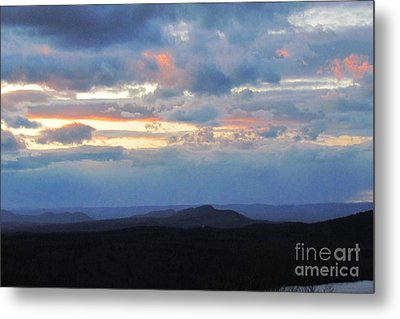 Evening Sky Over The Quabbin Metal Print by Randi Shenkman