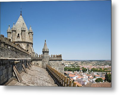 Evora View From Rooftop Of Cathedral Evora, Metal Print by Stefan Cioata