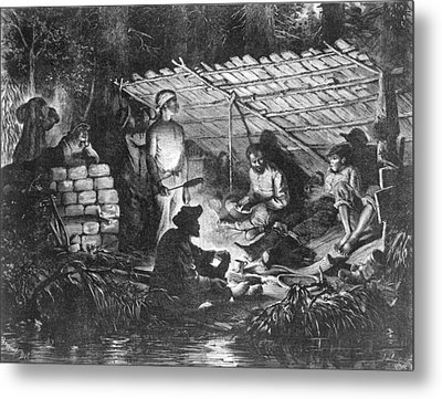 Ex-slaves Hiding In The Swamps Metal Print by Everett