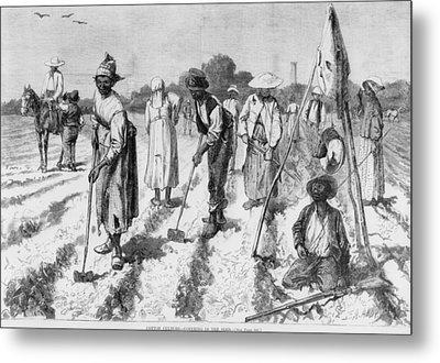 Ex-slaves, Working In A Gang Metal Print by Everett