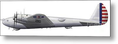 Experimental Boeing Xb-15 Bomber Metal Print by Chris Sandham-Bailey