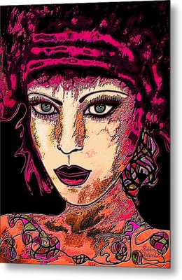 Face 13 Metal Print by Natalie Holland