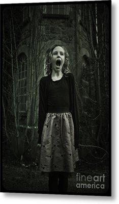 Face Metal Print by MrsRedhead Olga