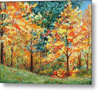 Fall Foliage Metal Print by AnnaJo Vahle