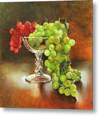 Fall Grapes Metal Print by Cynthia Peterson