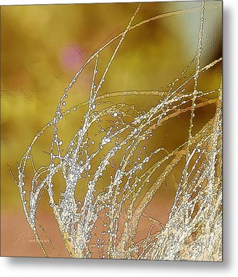 Fall Grass Metal Print by Artist and Photographer Laura Wrede