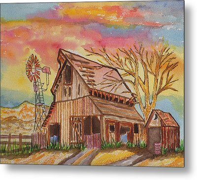Fall Storms Coming Metal Print by Connie Valasco