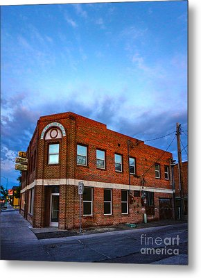 Fallon Nevada Building Metal Print by Gregory Dyer