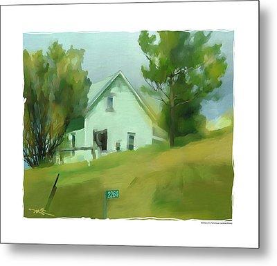 Farm House In Lucknow Ontario Metal Print by Bob Salo