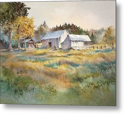 Farm On Denman Island Metal Print by Grant Fuller