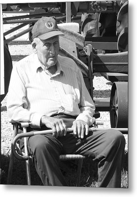 Farmer Metal Print by Ralph Hecht