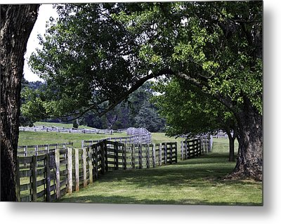 Farmland Shade Appomattox Virginia Metal Print by Teresa Mucha
