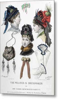 Fashion: Hats, C1875 Metal Print by Granger
