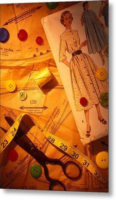 Fashion Old Dress Pattern Metal Print by Garry Gay