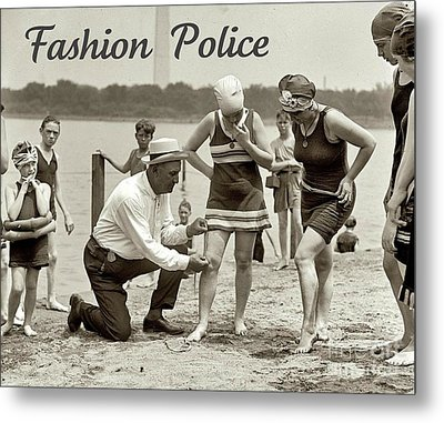 Fashion Police 1922 Metal Print by Padre Art