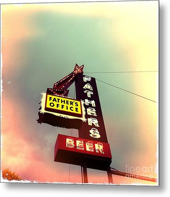 Father's Office Beer Metal Print by Nina Prommer