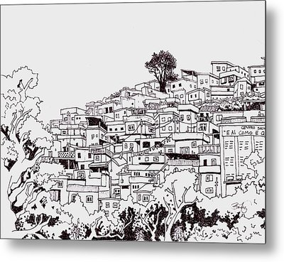 Favelas  Metal Print by Ben Leary