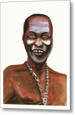 Fela Kuti Metal Print by Emmanuel Baliyanga