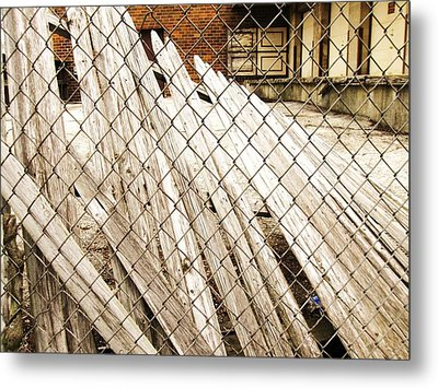 Fence Down Metal Print by Todd Sherlock