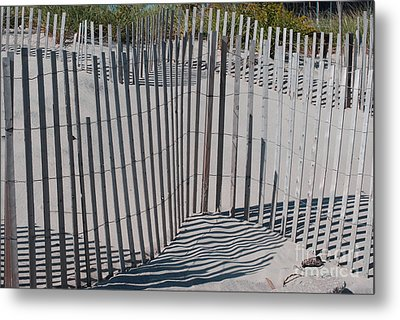 Fence Patterns II Metal Print by Andrea Simon