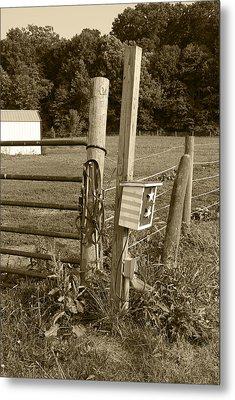 Fence Post Metal Print by Jennifer Ancker
