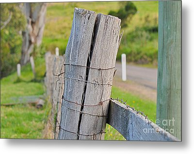 Fence Post Metal Print by Joanne Kocwin