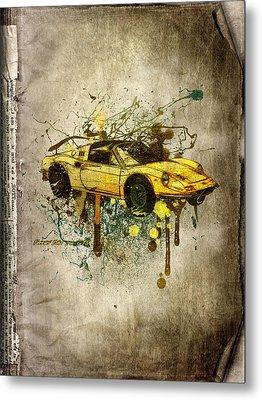 Ferrari Dino 246 Gts Metal Print by Svetlana Sewell