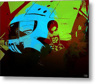 Ferrari  Watercolors Metal Print by Naxart Studio